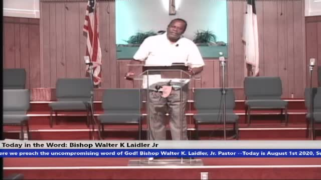 200802 Sun, Your Faith In God, Exodus 3 Moses - I Am I Am, Bishop Walter K. Laidler Jr