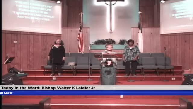 20200603 Wed 7PM, Praise and Worship, Bishop Walter K Laidler Jr.