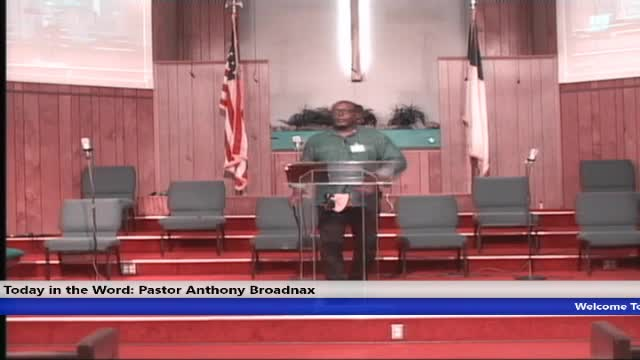 20200909 WED 7PM REASONS NOT TO FEAR, GOD'S PRESENCE, THE STRENGTH  AND COMFORT OF HIS PEOPLE PASTOR ANTHONY BROADNAX