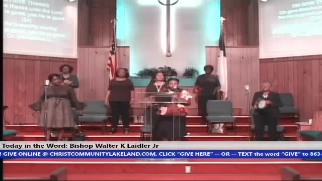 200913 SUN, THE GREATNESS OF OUR GOD - TAKE THE GATE OFF THE HINGES, BISHOP WALTER K. LAIDLER JR