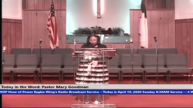 20200419 Sun 8:30AM, As Thy Days, So Shall Thy Strength Be, Dueteronomy 33:25, Pastor Mary Goodman