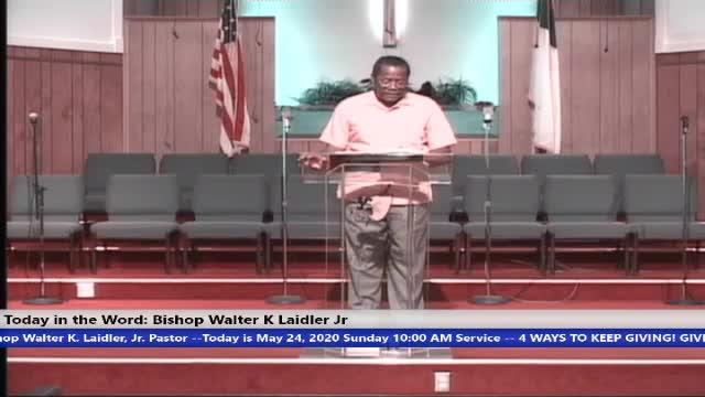 20200524 Sun 10am, Coronavirus: God's Witness Protection Program, Bishop Walter K Laidler Jr - 24 May 2020 - 10-50-54 AM