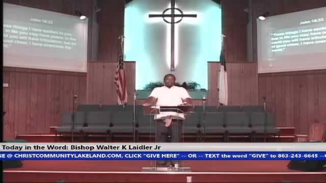 20200531 Sun 10AM, The Death Of George Floyd, One Sinner Destroys Much Good, Ecclesiastes 9:18, Bishop Walter K. Laidler Jr