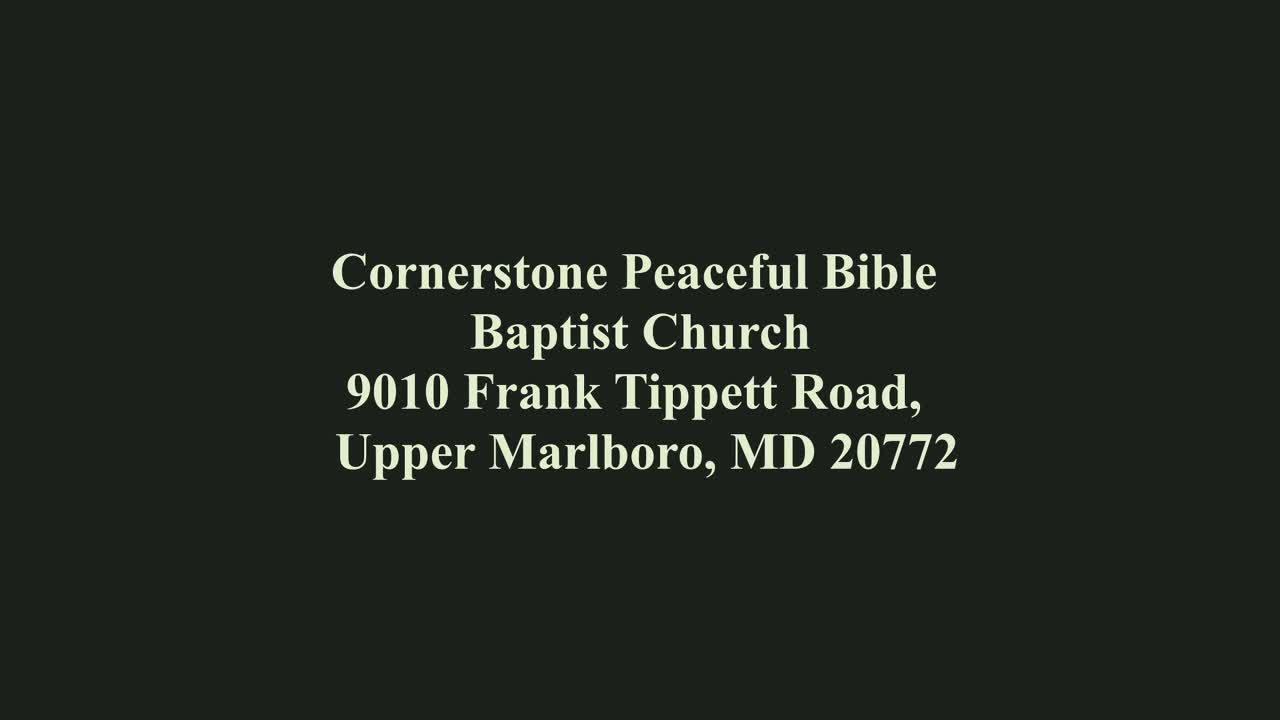 Cornerstone Peaceful Bible Baptist Church  Tuesday Night Bible Study on 9-Feb-21-00:30:47