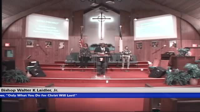 20200226 Wednesday Night Family Worship Service TITLE: When Abraham Communed VERSE: Hebrews 7:1-10 SPEAKER: Bishop Walter K. Laidler Jr.