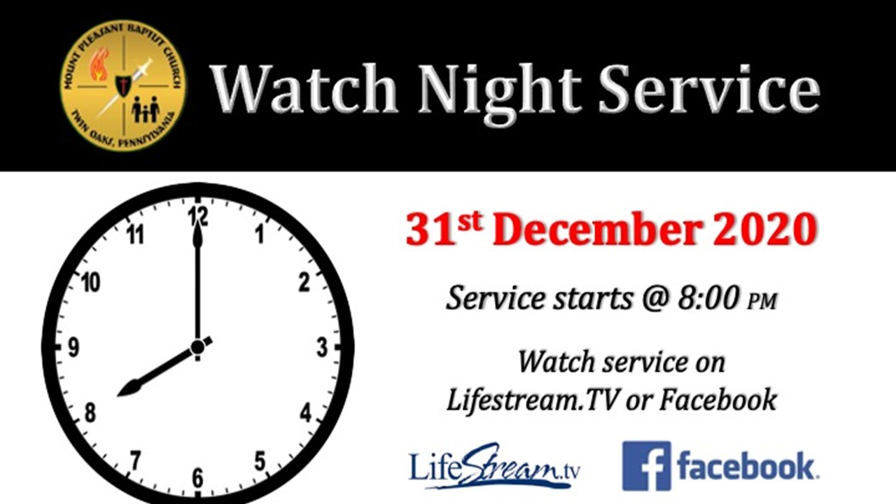 Watch Night Opening Service