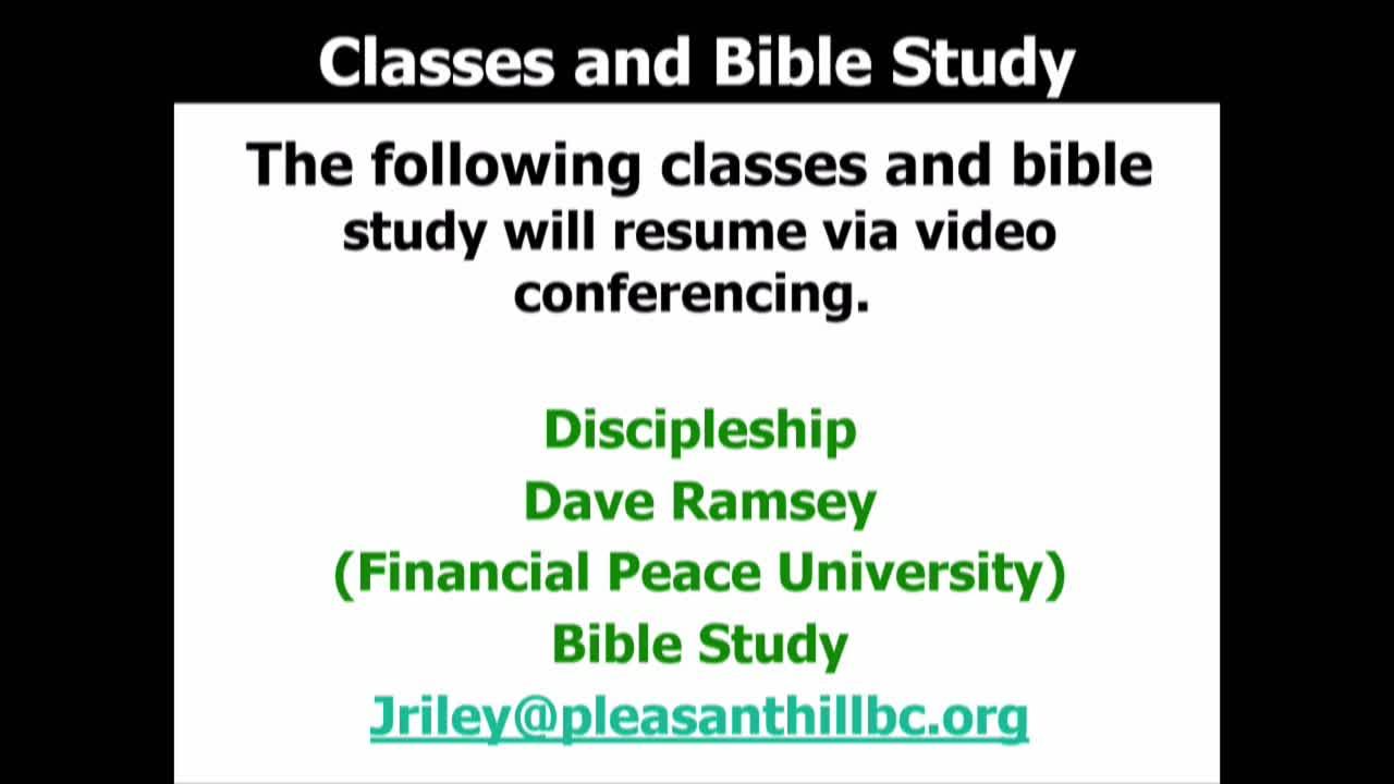 Pleasant Hill Baptist Church Live Services  on 12-Apr-20-07:29:00