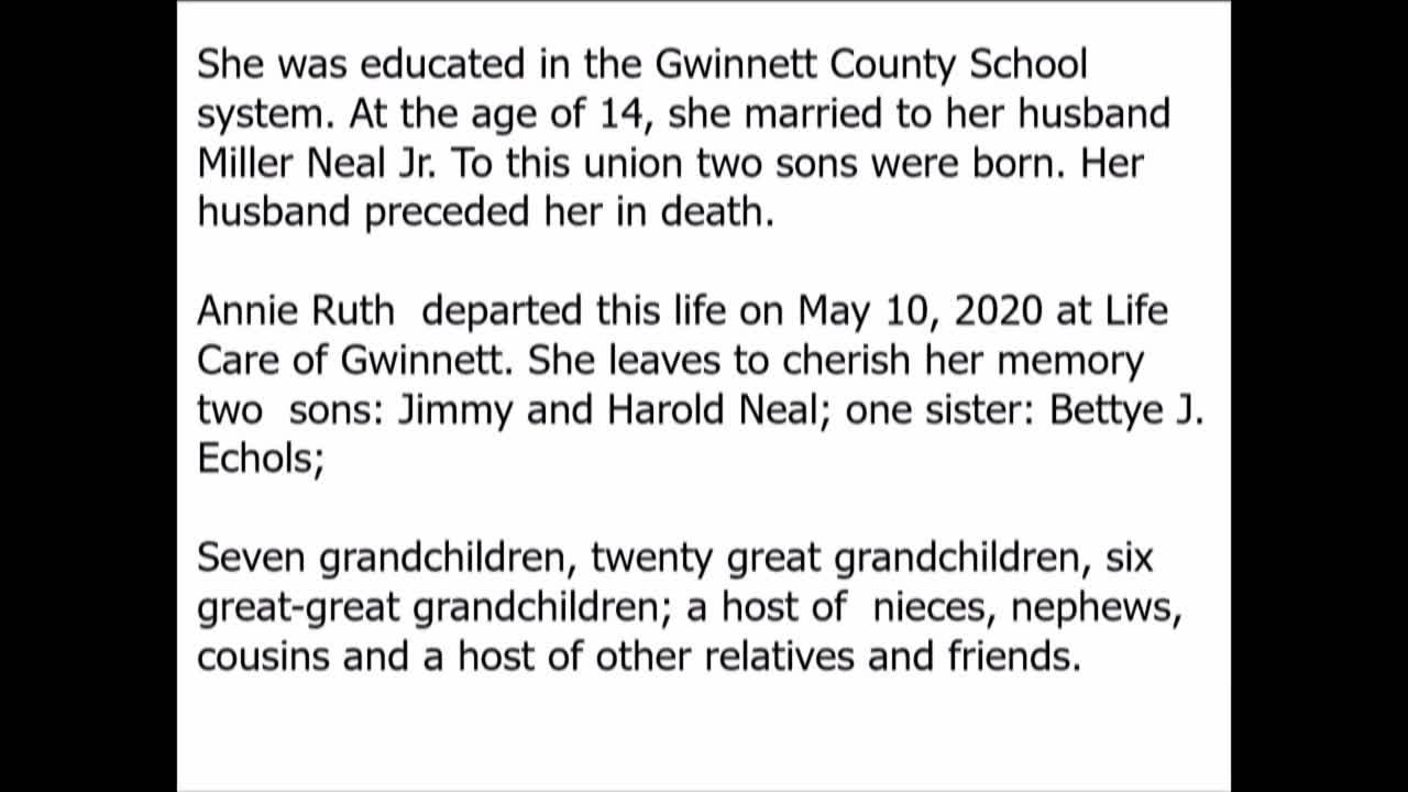 Memorial Service Mrs. Anne Ruth Neal - 15-May-20-18:59:42