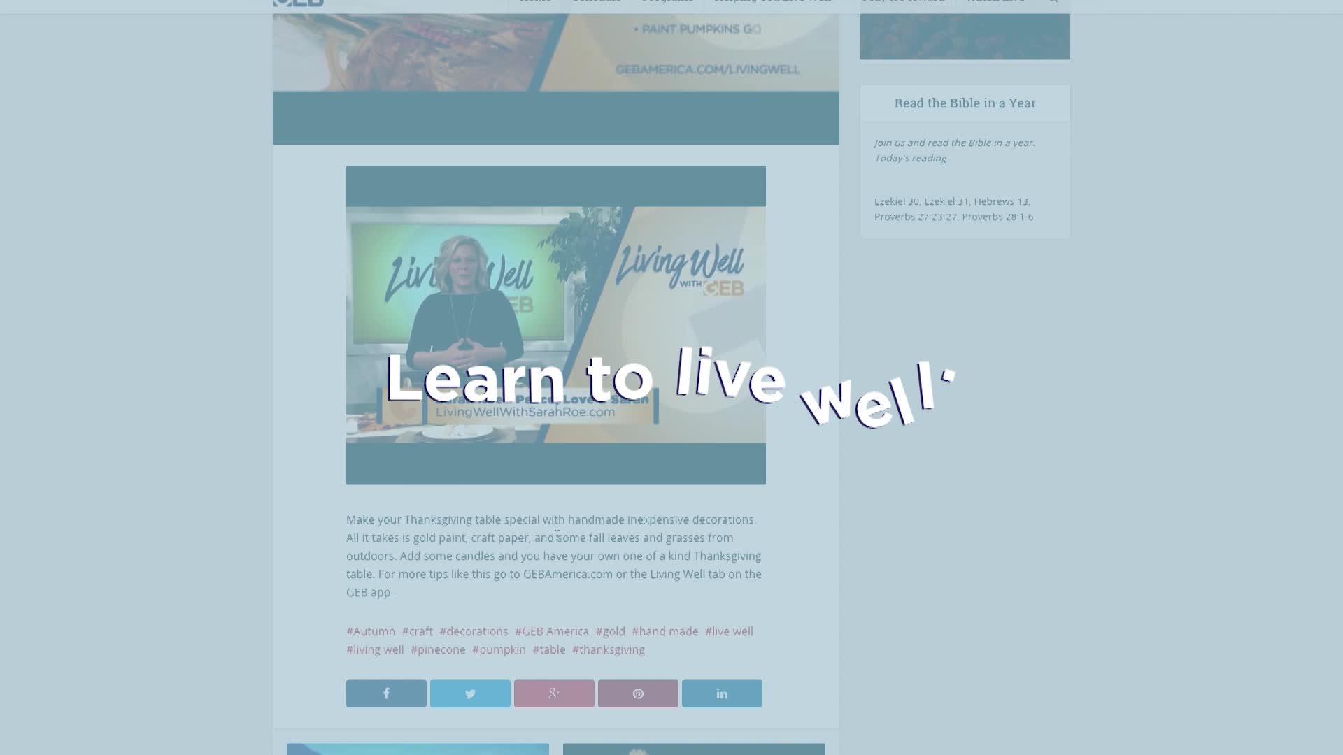 GEB.tv website