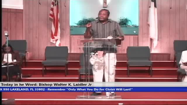 201115 SUN, The Power Of Love, 1 Thess 1:2-3, Matt 21:21-22, BISHOP WALTER K. LAIDLER JR