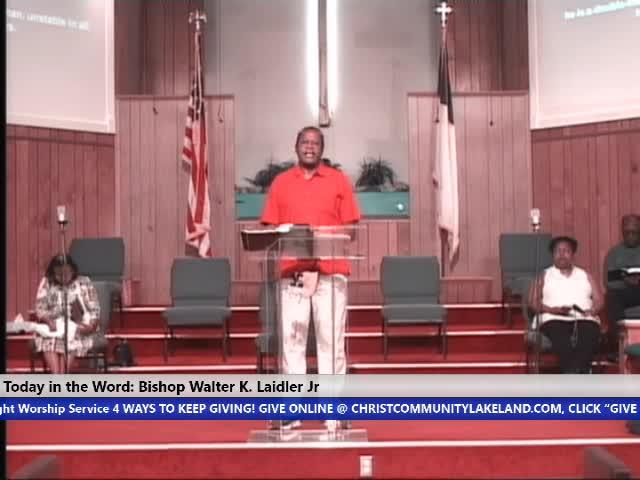 201118 Wed, The Power of Love Your Confession James 18 Bishop Walter K. Laidler Jr