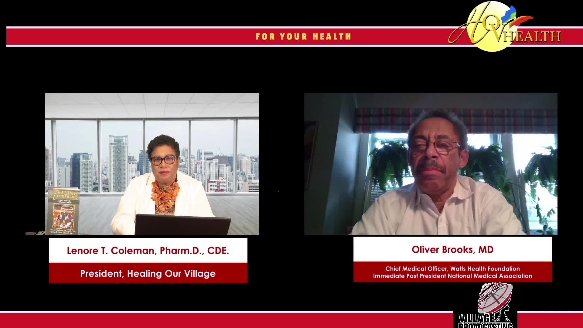 For Your Health Dr Lenore T Coleman interview with Dr Oliver Brooks topic Covid-19 1-23-2021