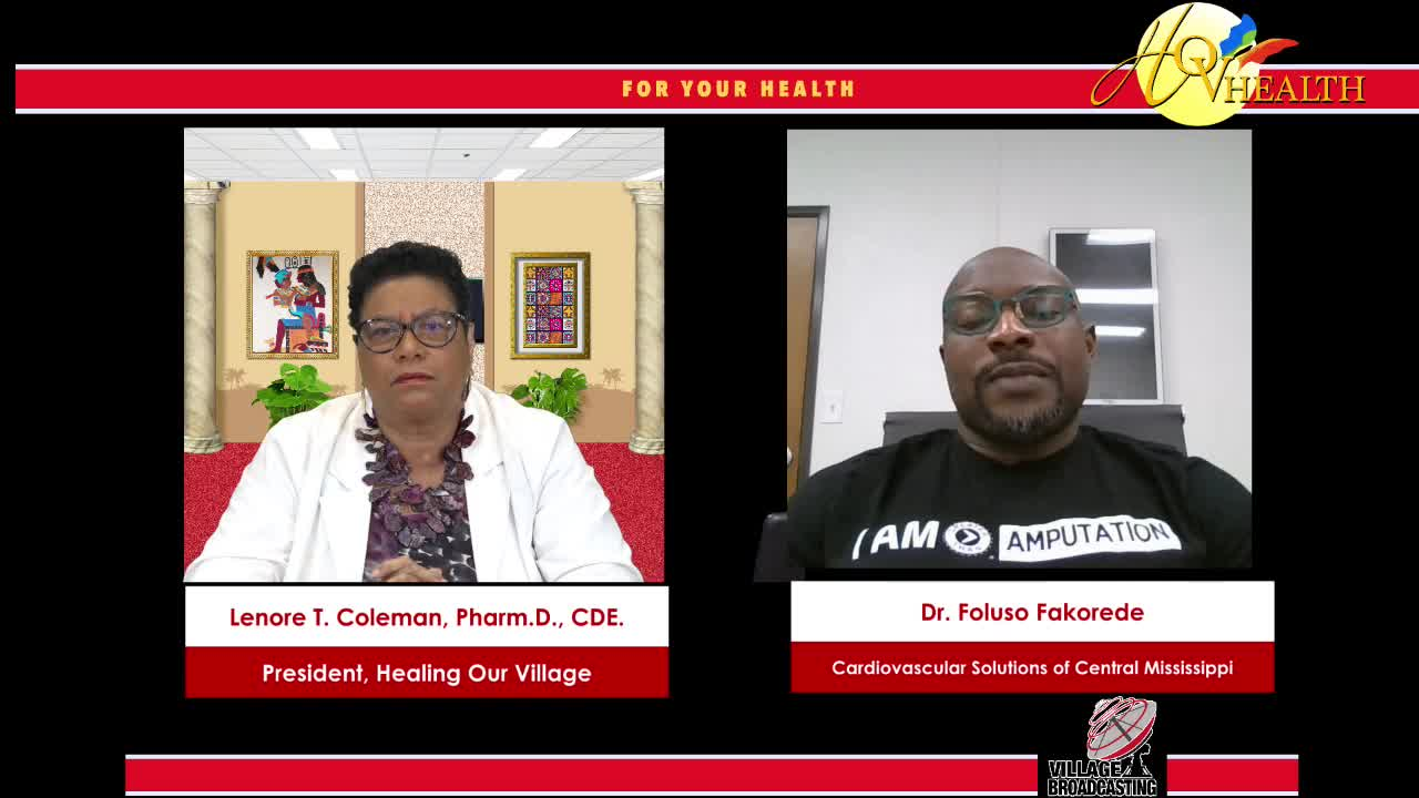 For You Health Dr. Lenora T. Coleman interview with Dr. Foluso Fakorede on 2-20-2021