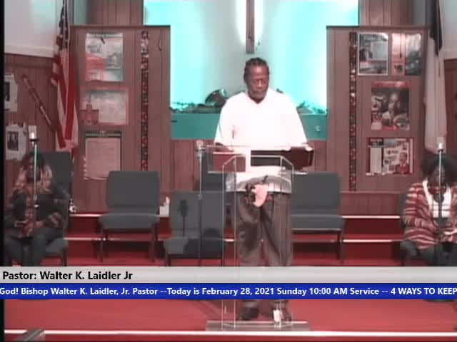 210228, Sun, What is the Advantage to Black Folks in America with Faith in God to Continue to Believe They are at A Disadvantage to White Folks in America? Bishop Walter K. Laidler Jr