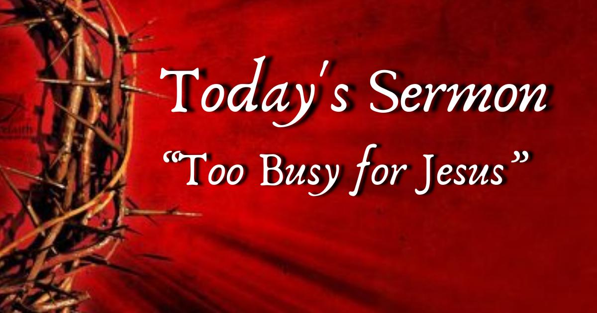 Sermon Replay Feb 28