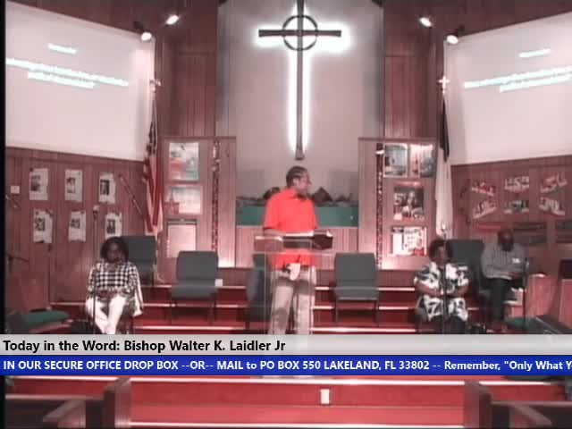 210310 Wed, Faith, Hope, Love and Prayer: What a Christian Is -There is No Disadvantage? Bishop Walter K. Laidler Jr Trim 2