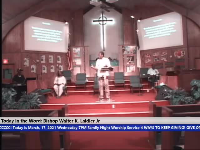210317 Wed, Faith: Advantage vs Disadvantage & Equity vs Equality, Bishop Walter K- Laidler Jr
