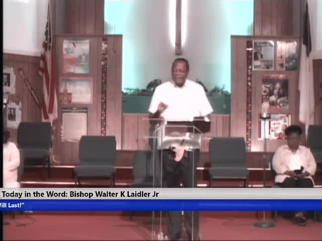 210418 Sun, Title:Faith in GOD, An Out of Body Experience, Bishop Walter K- Laidler Jr