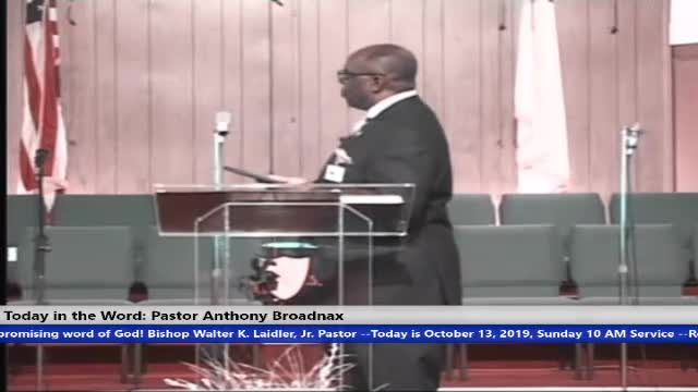 20191013 10AM SUN ''SYNCHRONIZE YOUR HEART AND MOUTH'' PASTOR ANTHONY BROADNAX