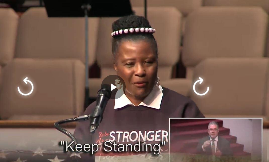 Keep Standing, Asst Pastor Rev. Dr. Sandra K. James, May 30, 2021 @ 11am