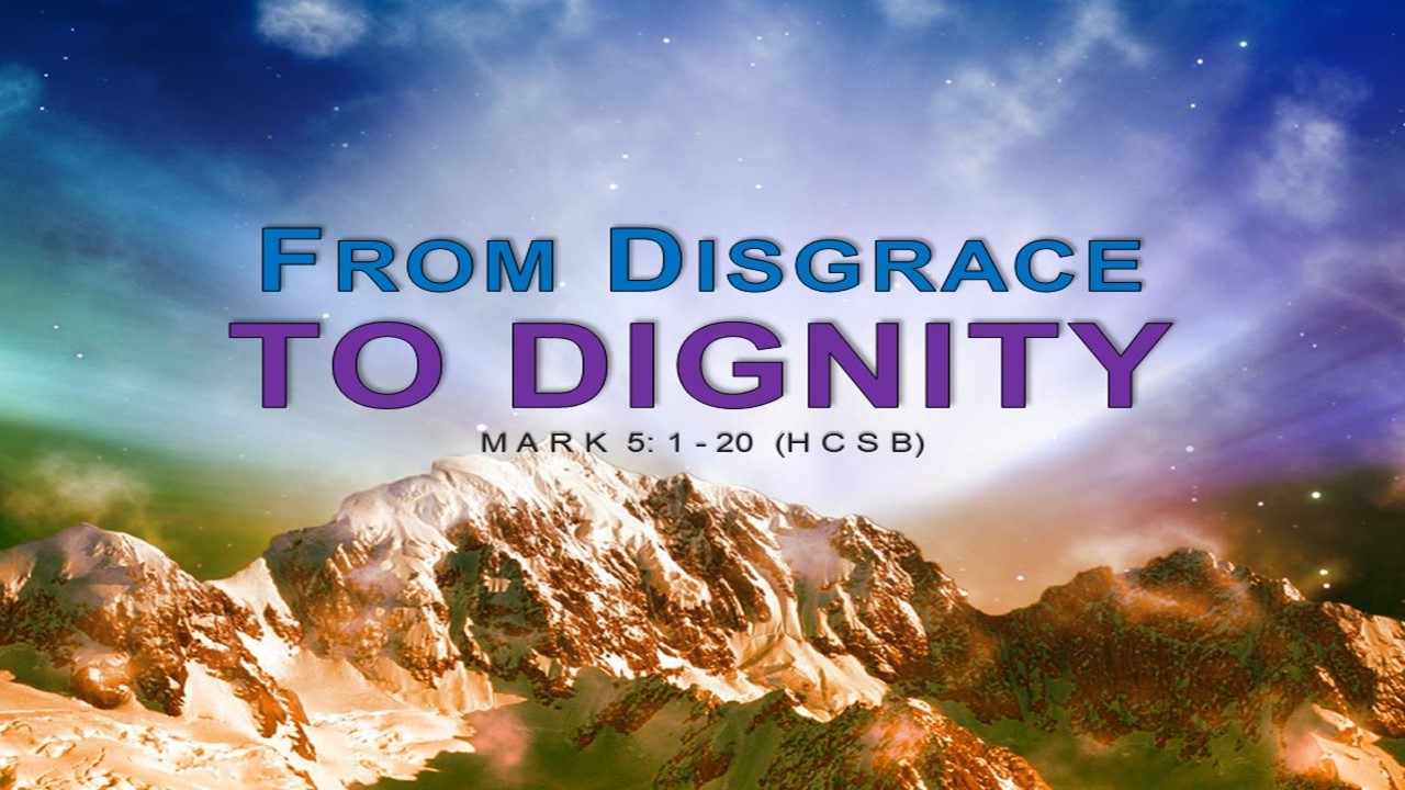 From Disgrace To Dignity Rev. Dr. Willie E. Robinson