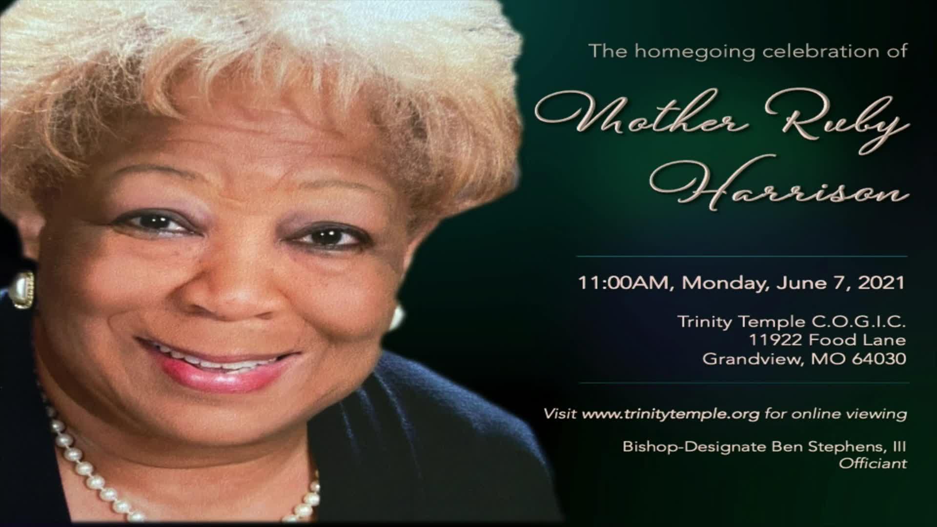Homegoing celebration for Mother Ruby Harrison on 07-Jun-21-15:55:05