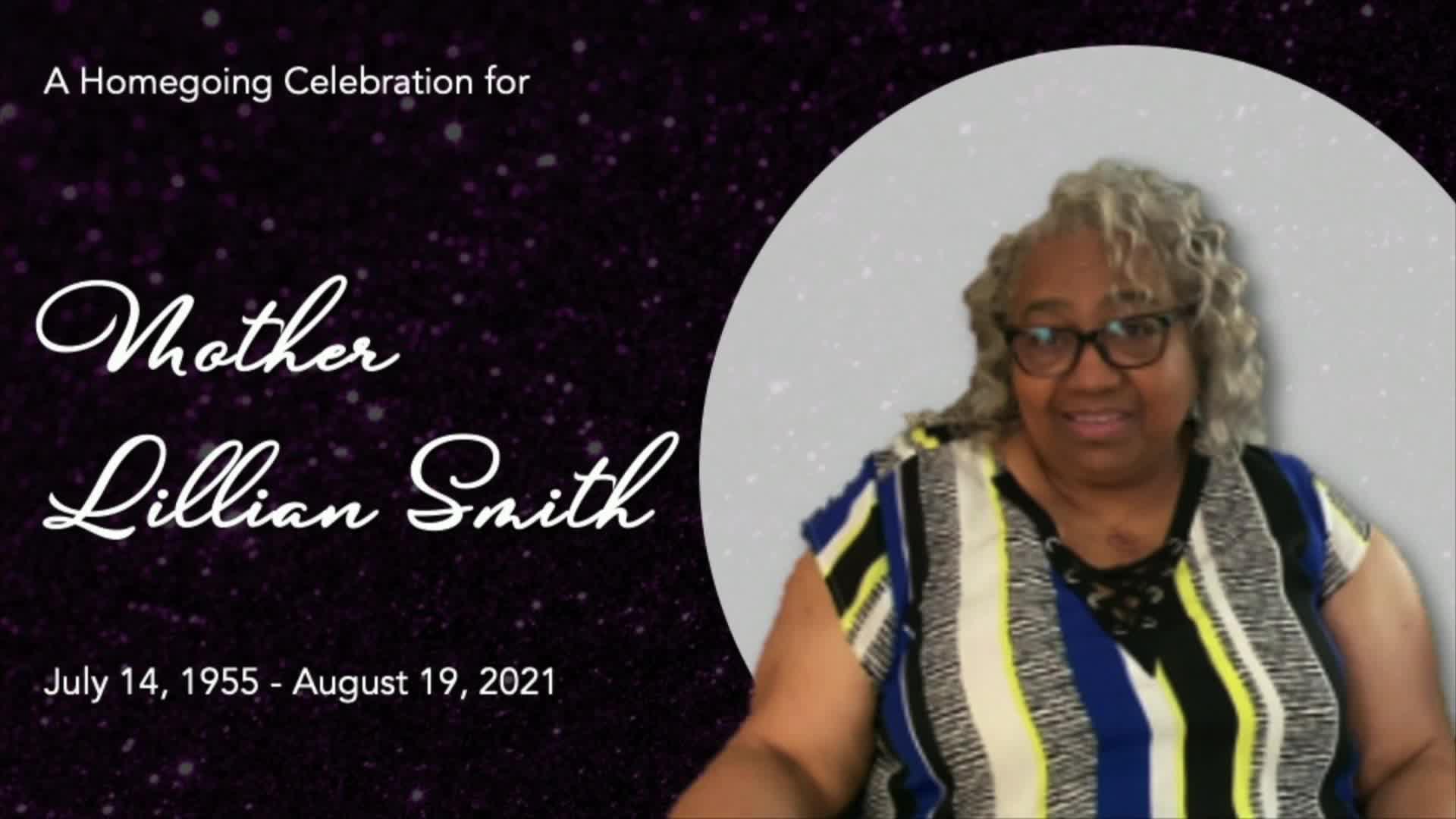 Celebration of Life Mother Lillian Smith