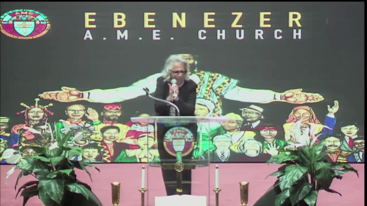 EBENEZER A.M.E. CHURCH Sunday Worship Service Live  on 10-Oct-21-16:46:11