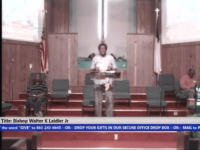 210519 Wed, Faith in God: We have been given everything we need - Listening to the Holy Spirit to gain access, Bishop Walter K. Laidler Jr
