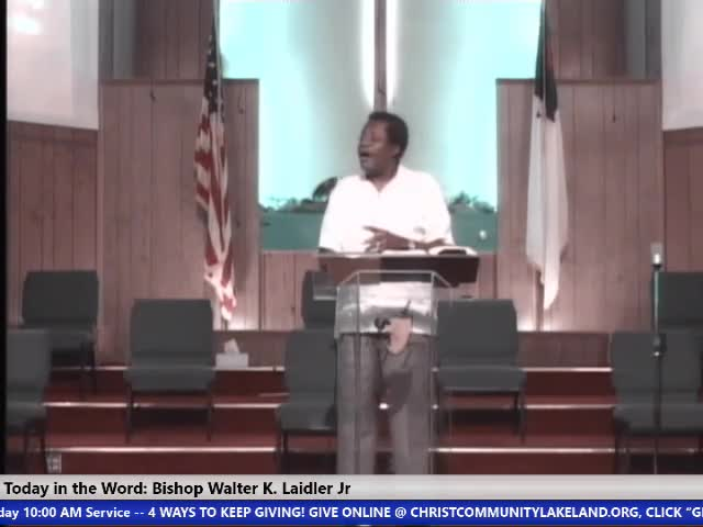 210808 Sun, The Church On The Road, Bishop Walter K Laidler Jr _