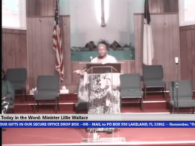 210818 Wed 7pm, The Faith Of The Church, Minister Lillie Wallace