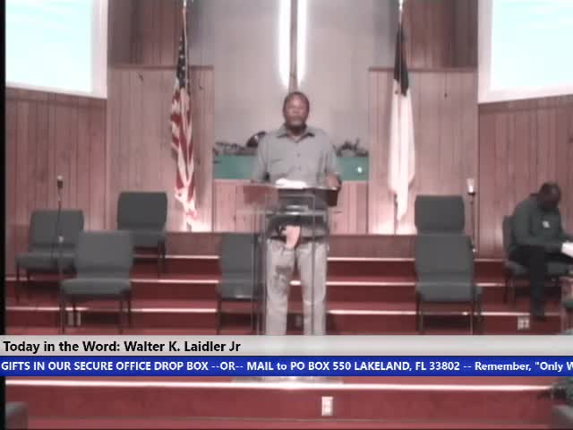 210915 Wed, The Church You Are a Blessing , Bishop Walter Laidler Jr