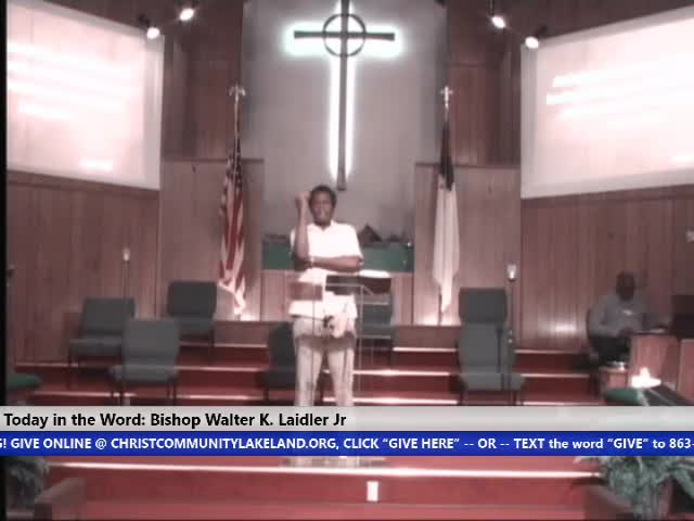 210922 Wed, You Either Know IIt Or You Don't GOD Live Through You, Bishop Walter K- Laidler Jr