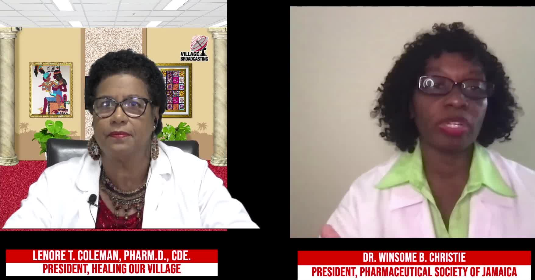 For Your Health with Dr- Lenore T- Coleman Interviewing Dr- Winsime B- Christie topic COVID 19 Conversation 9-25-2021